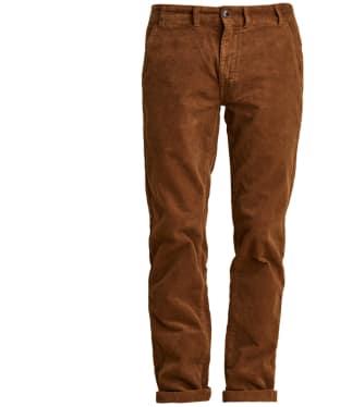 Men's Barbour Neuston Stretch Cord Trousers - Dark Honey