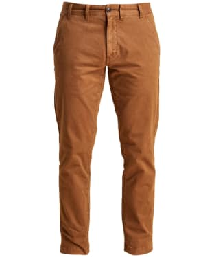 Men's Barbour Neuston Stretch Brushed Twill Trousers - Caramel