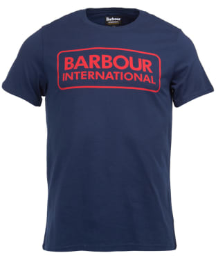 Men's Barbour International Essential Large Logo Tee - New Navy