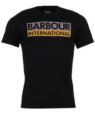 Men's Barbour International Cap Crew Neck T-Shirt - Black