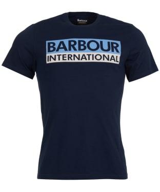 Men's Barbour International Cap Crew Neck T-Shirt - Navy