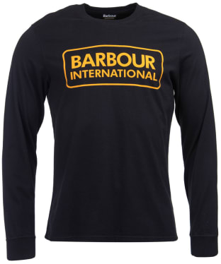Men's Barbour International Large Logo Tee - Black