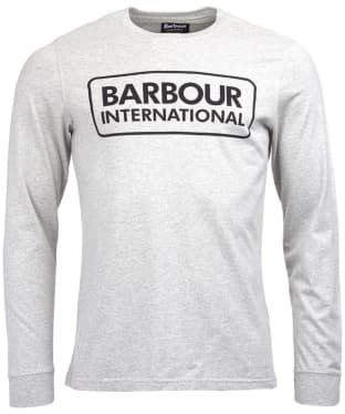 Men's Barbour International Large Logo Tee - Grey