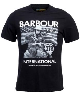 Men's Barbour Steve McQueen Paddock Tee - Black