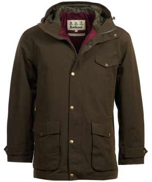 Men's Barbour Sire Waterproof Jacket - Dark Olive