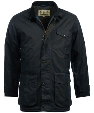 Men's Barbour Cole Wax Jacket - Navy