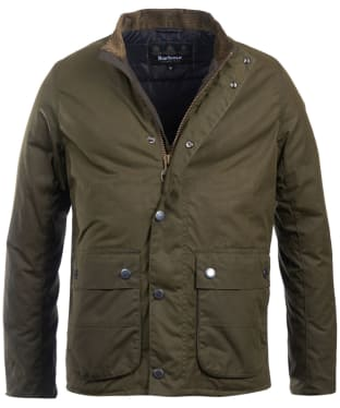Men's Barbour International Armour Waxed Jacket - Archive Olive