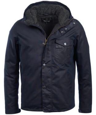 Men's Barbour International Kevlar Waxed Jacket - Navy