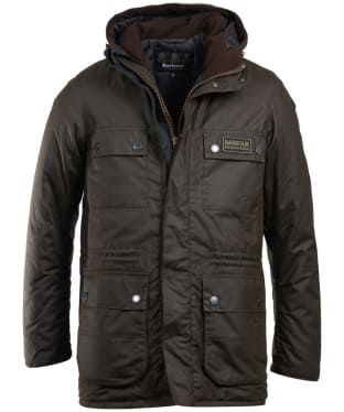 Men's Barbour International Imboard Waxed Jacket - Olive