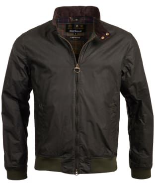 Men's Barbour Lightweight Royston Waxed Jacket - Sage