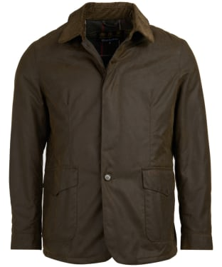 Men's Barbour x Sam Heughan Augite Wax Jacket - Olive