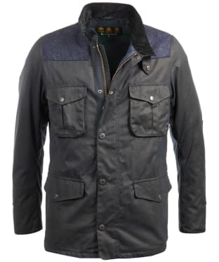 Men's Barbour Tresco Waxed Jacket - Navy