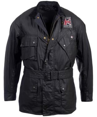 Men's Barbour Steve McQueen Joshua Wax Jacket - Black