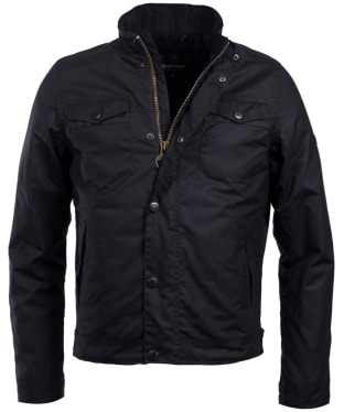 Men's Barbour International Hatch Waxed Jacket - Black