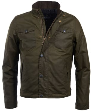 Men's Barbour International Hatch Waxed Jacket - Archive Olive