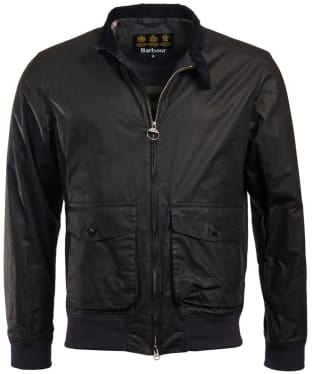 Men's Barbour Hagart Waxed Jacket - Black