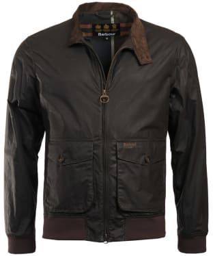 Men's Barbour Hagart Waxed Jacket - Dark Olive