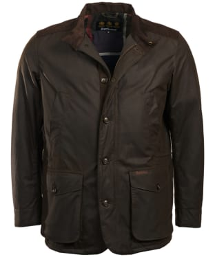 Men's Barbour Kyle Waxed Jacket - Olive