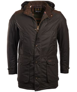 Men's Barbour Crieff Waxed Jacket - Olive