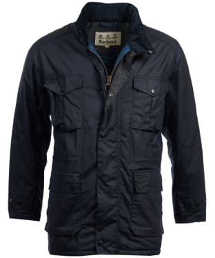 Men's Barbour Newcastle Wax Jacket - Navy