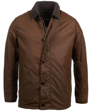 Men's Barbour Steve McQueen Havasu Wax Jacket - Dark Sand