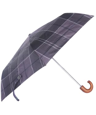 Barbour Tartan Mini Umbrella - Black / Grey