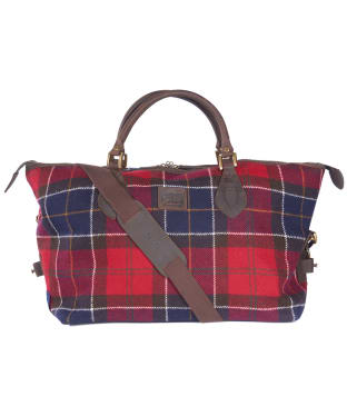 Barbour Shadow Tartan Explorer Bag - Red Tartan