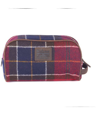 Barbour Shadow Tartan Wash Bag - Red Tartan
