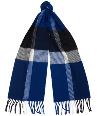 Barbour Oakwell Lambswool Scarf - Blue / Black