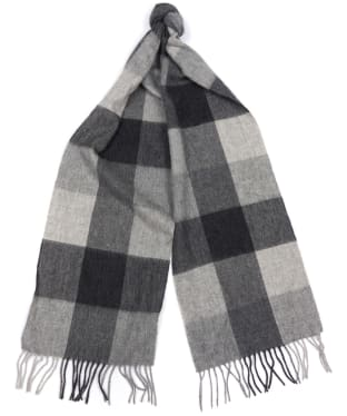 Barbour Lockton Checked Scarf - Dark Grey / Black