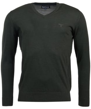 Men's Barbour Merino V Neck Sweater - Forest