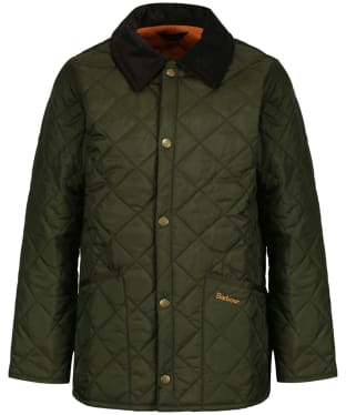 Boy's Barbour Liddesdale Quilted Jacket, 2-9yrs - New Olive