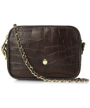 Women's Fairfax & Favor The Madison Croc Print Leather Bag - Brown Croc