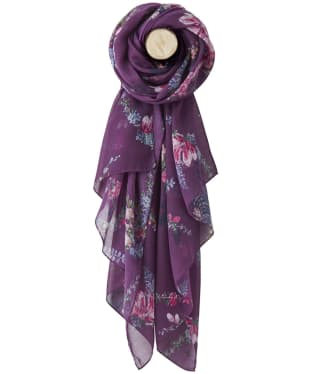 Women's Joules Wensley Woven Scarf - Plum Floral