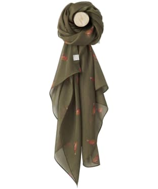 Women's Joules Wensley Woven Scarf - Grape Leaf Partridge