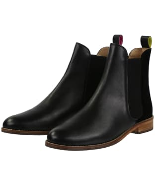 Women's Joules Westbourne Leather Chelsea Boots - Black Velvet