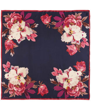 Women's Joules Bloomfield Silk Scarf - French Navy Bircham Bloom