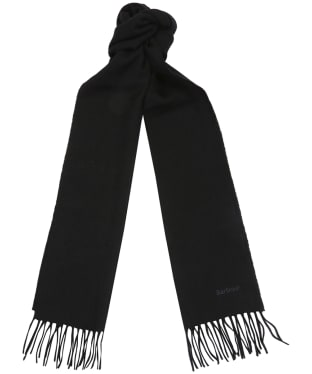 Women's Barbour Lambswool Woven Scarf - Black
