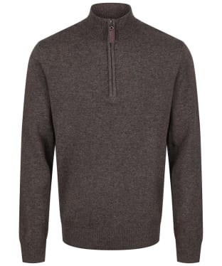 Men's Schoffel Lambswool ¼ Zip Sweater - Mole