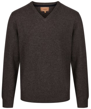 Men's Schoffel Lambswool V Neck Sweater - Mole