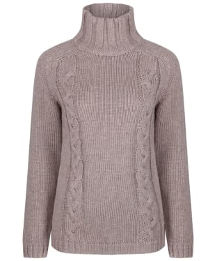 Women's Schoffel Merino Cable Roll Neck Sweater - Mink