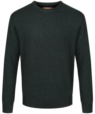 Men's Schoffel Lambswool Crew Neck Sweater - Forest