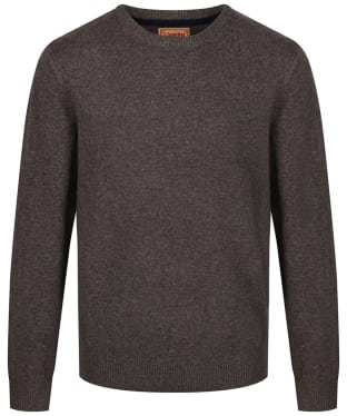 Men's Schoffel Lambswool Crew Neck Sweater - Mole