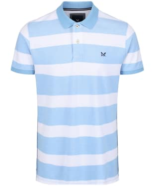 Men's Crew Clothing Two Tone Oxford Polo Shirt - Sky / White