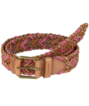Schoffel Woven Leather Belt - Tan / Rose