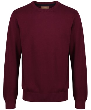 Men's Schoffel Cotton/Cashmere Crew Neck Jumper - Fig