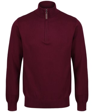 Men's Schoffel Cotton ¼ Zip Jumper - Fig