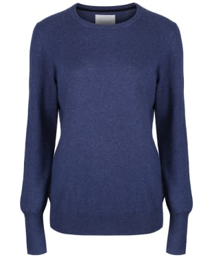 Women's Schoffel Cotton Cashmere Crew Neck Sweater - Indigo