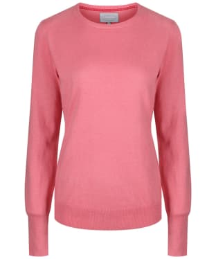 Women's Schoffel Cotton Cashmere Crew Neck Sweater - Rose
