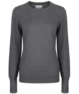 Women's Schoffel Cotton Cashmere Crew Neck Sweater - Flannel